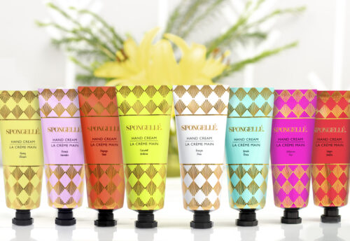 spongellé hand cream. signature scents, hydrating soothing