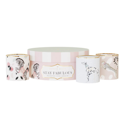 stay fabulous, ceramic candle, gift set, yvonne ellen