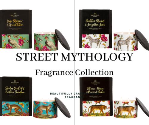 home fragrance, street mythology, ceramic candle, candle git, candle, home wear, wax lyrical